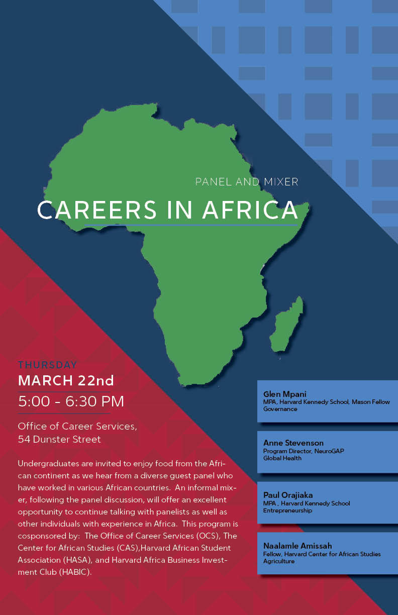 Careers in Africa Poster