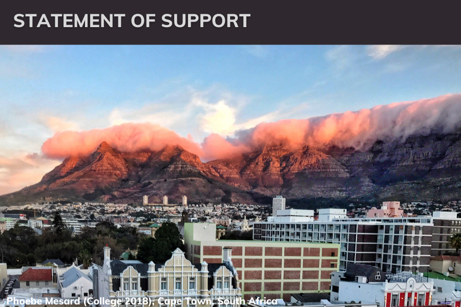 statement of support for cape town image of table mountain