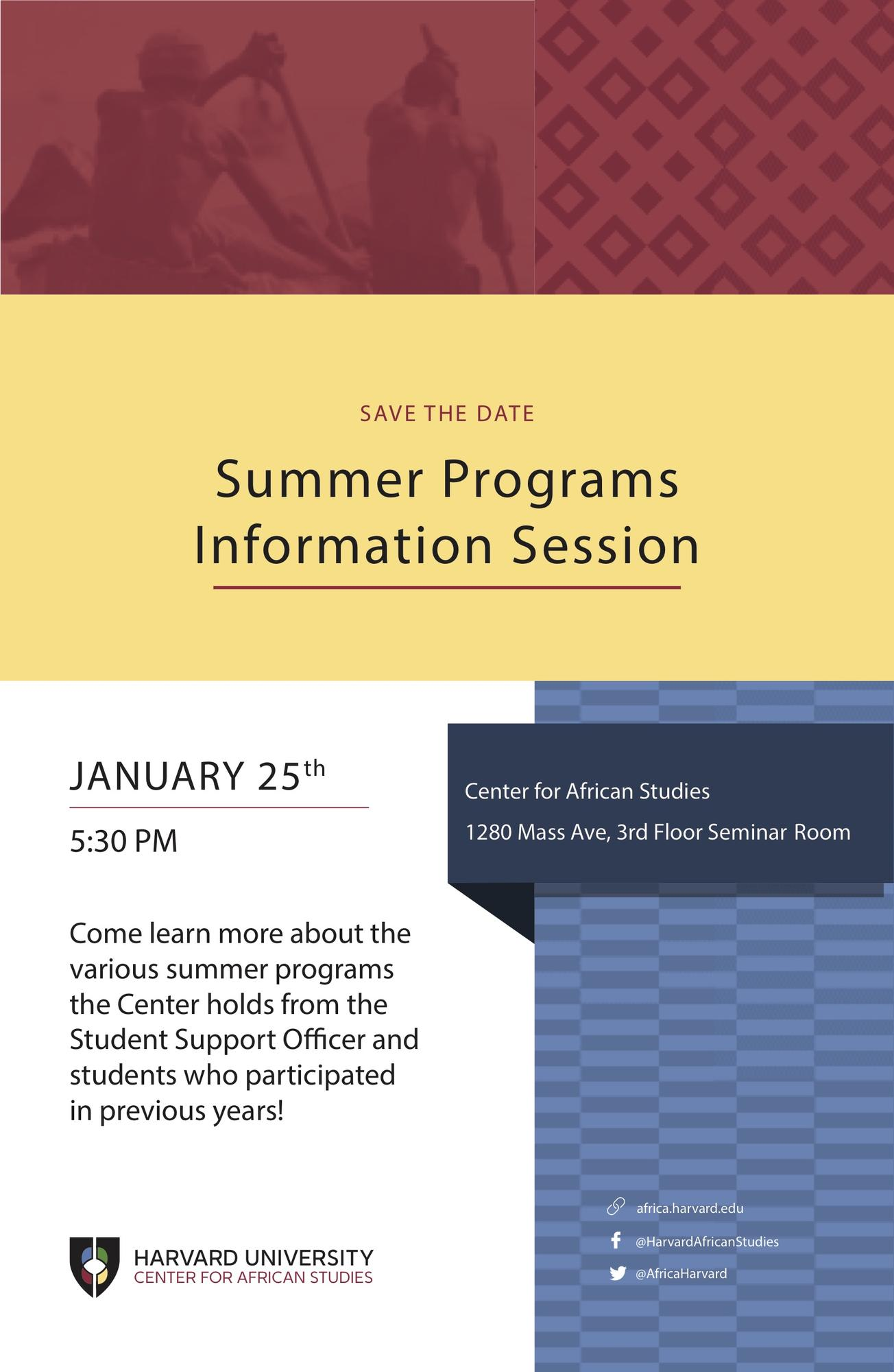Summer Information Session