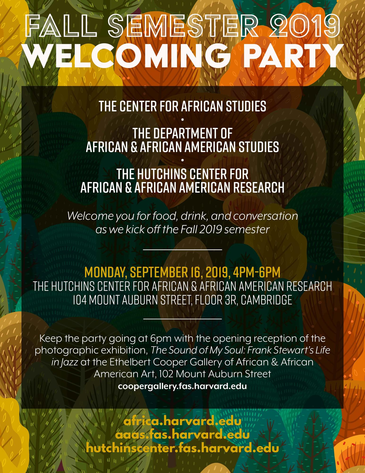 Welcome Party Poster