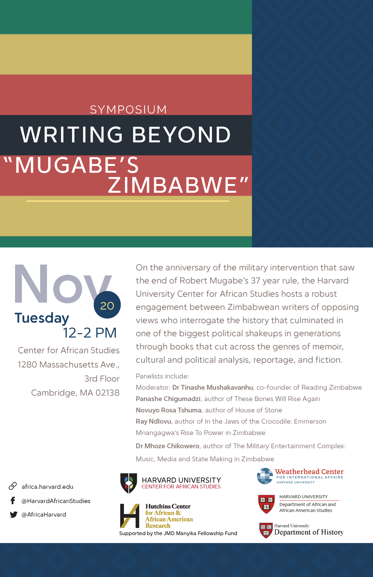 Writing Beyond Mugabe's Zimbabwe Poster