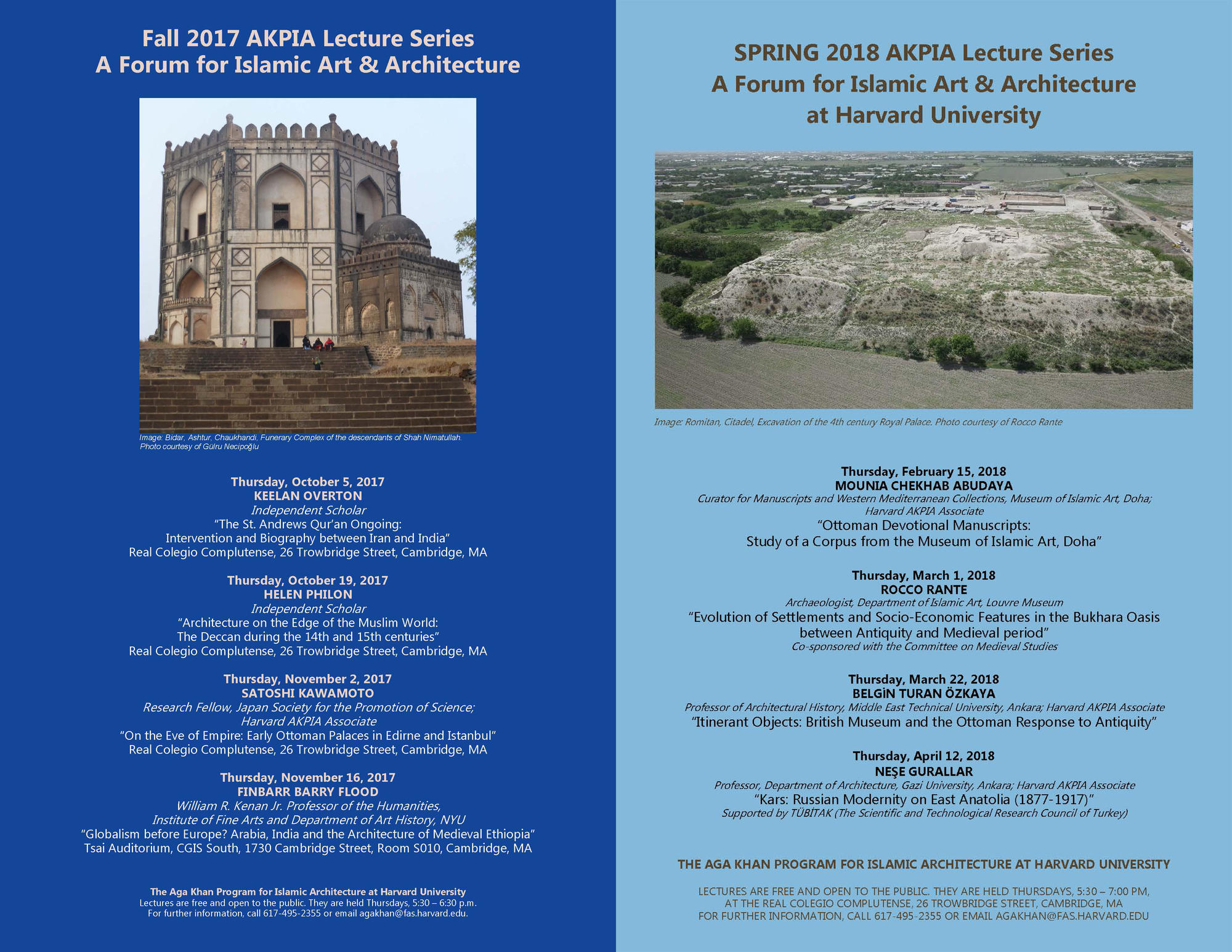 AKPIA 2017-2018 Lectures