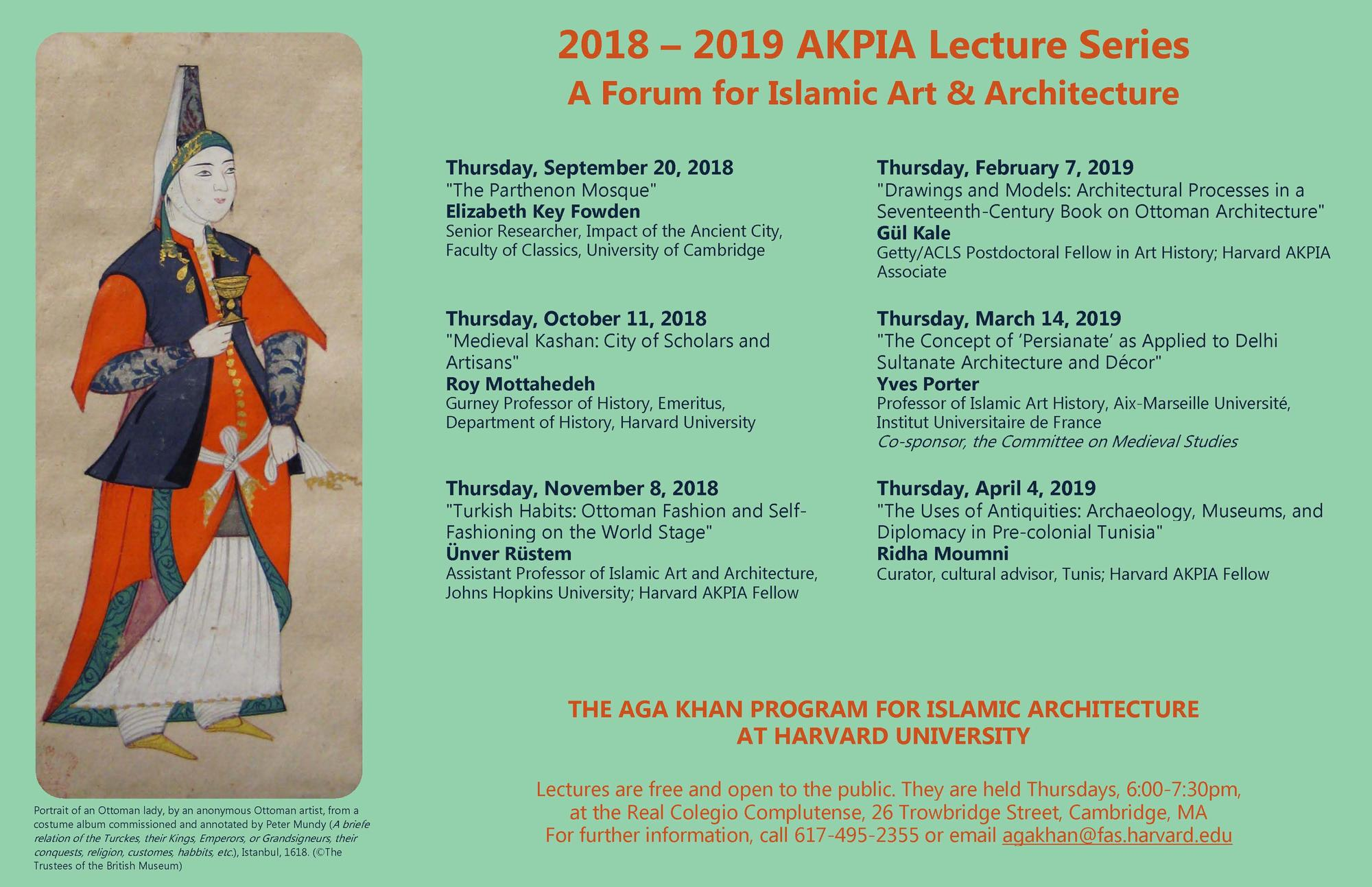 AKPIA Lectures 2018-19