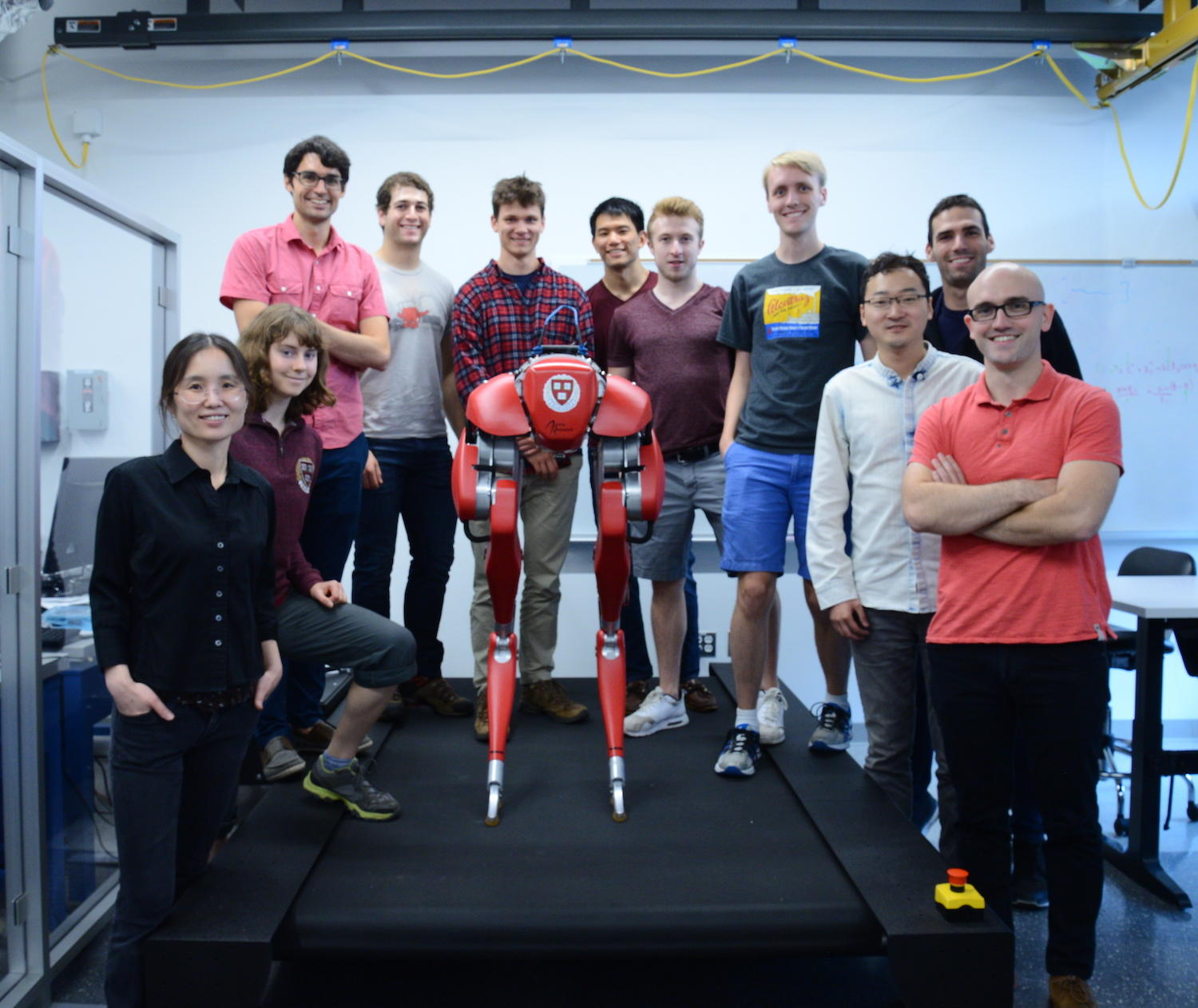 Agile Robotics Lab members with Cassie