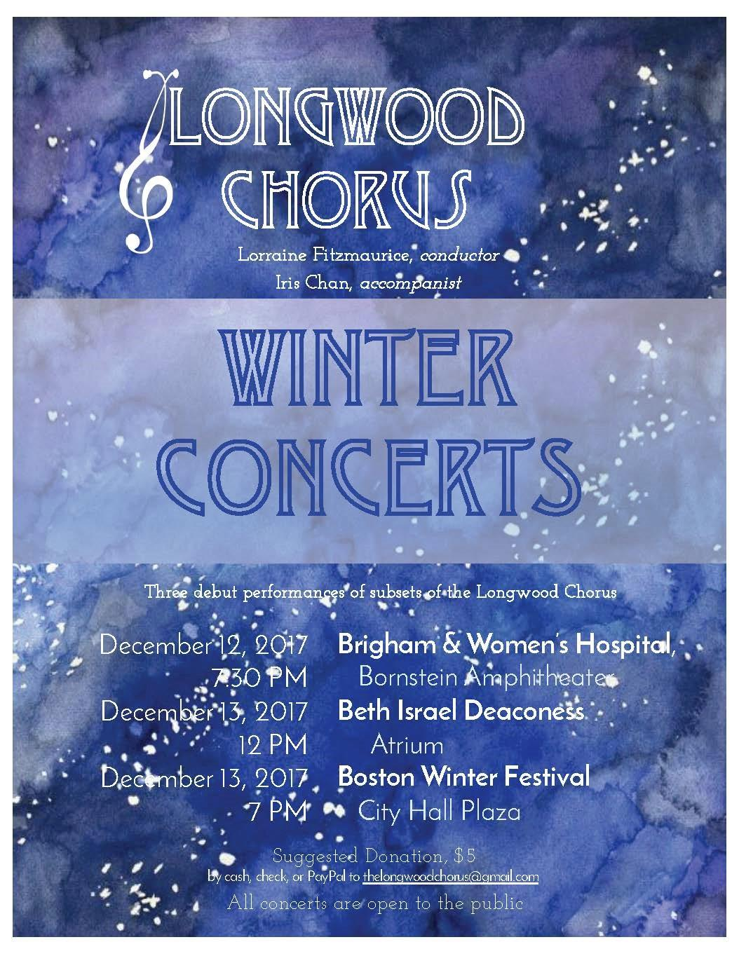 Longwood Chorus - Winter Concerts