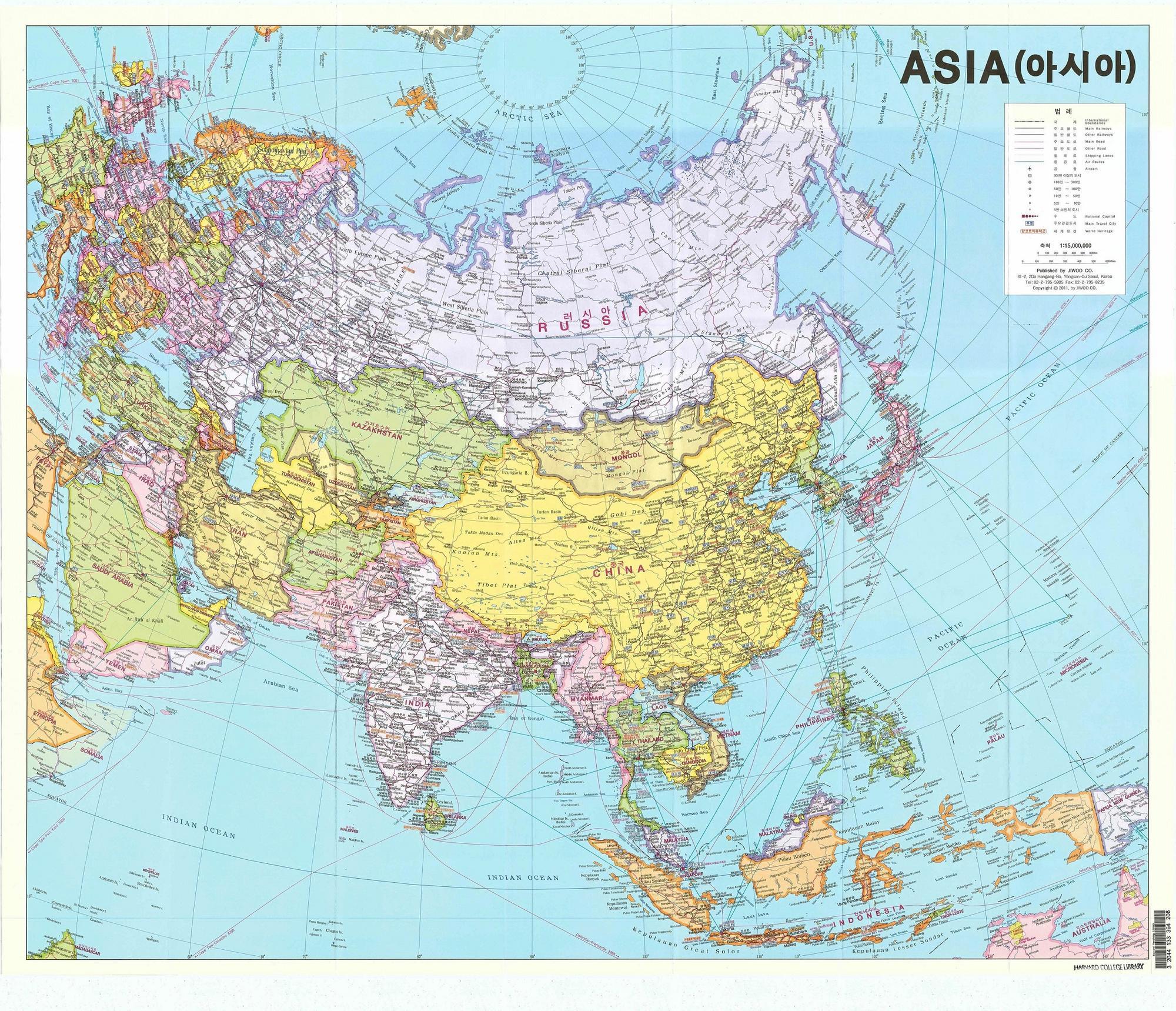 Contemporary maps harvard university asia center contemporary korean map of asia seoul jiwoo company 2011 gumiabroncs Images