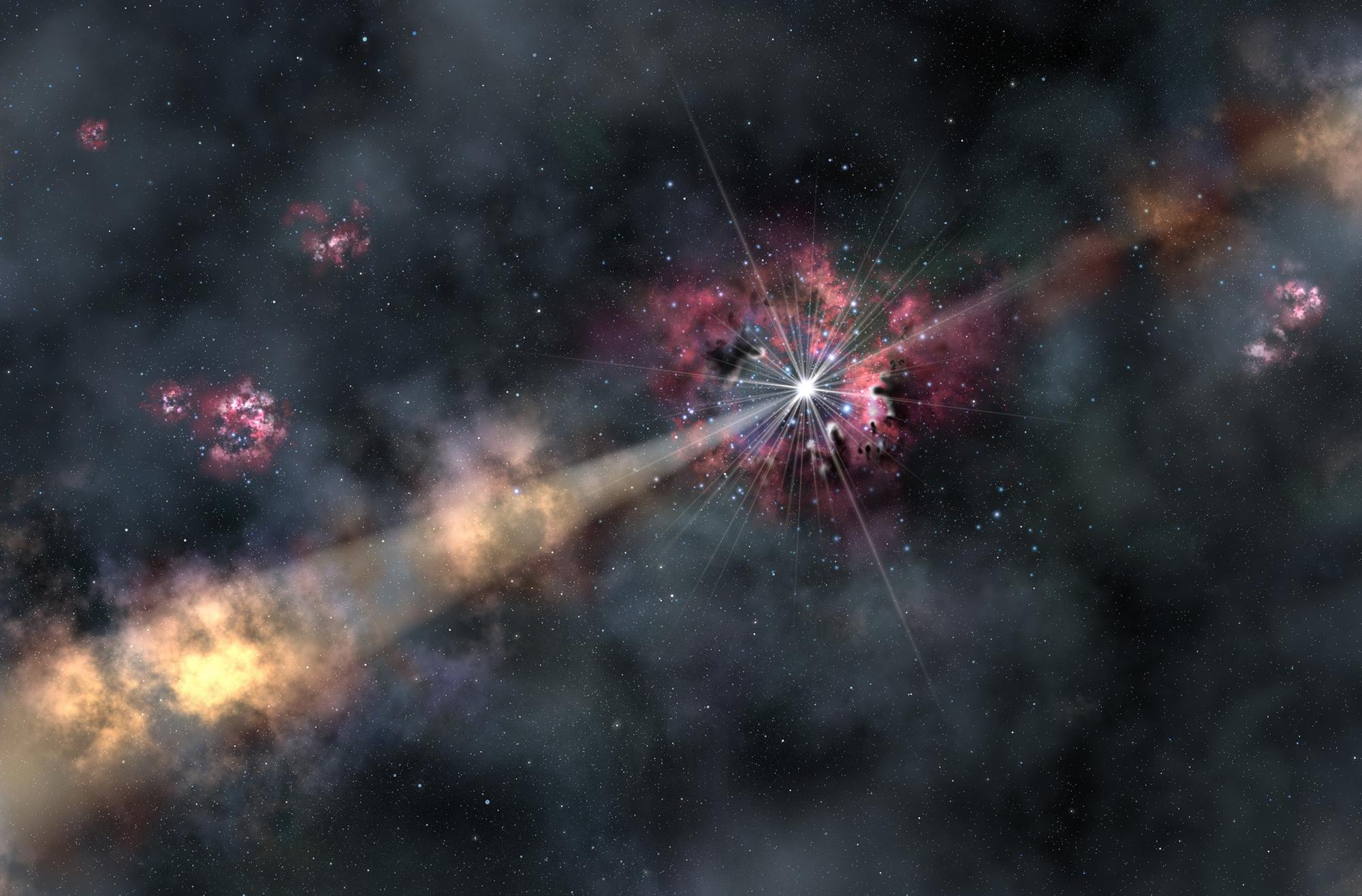Image from gamma-ray blast