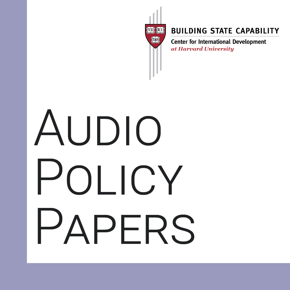 Audio Policy Papers cover photo