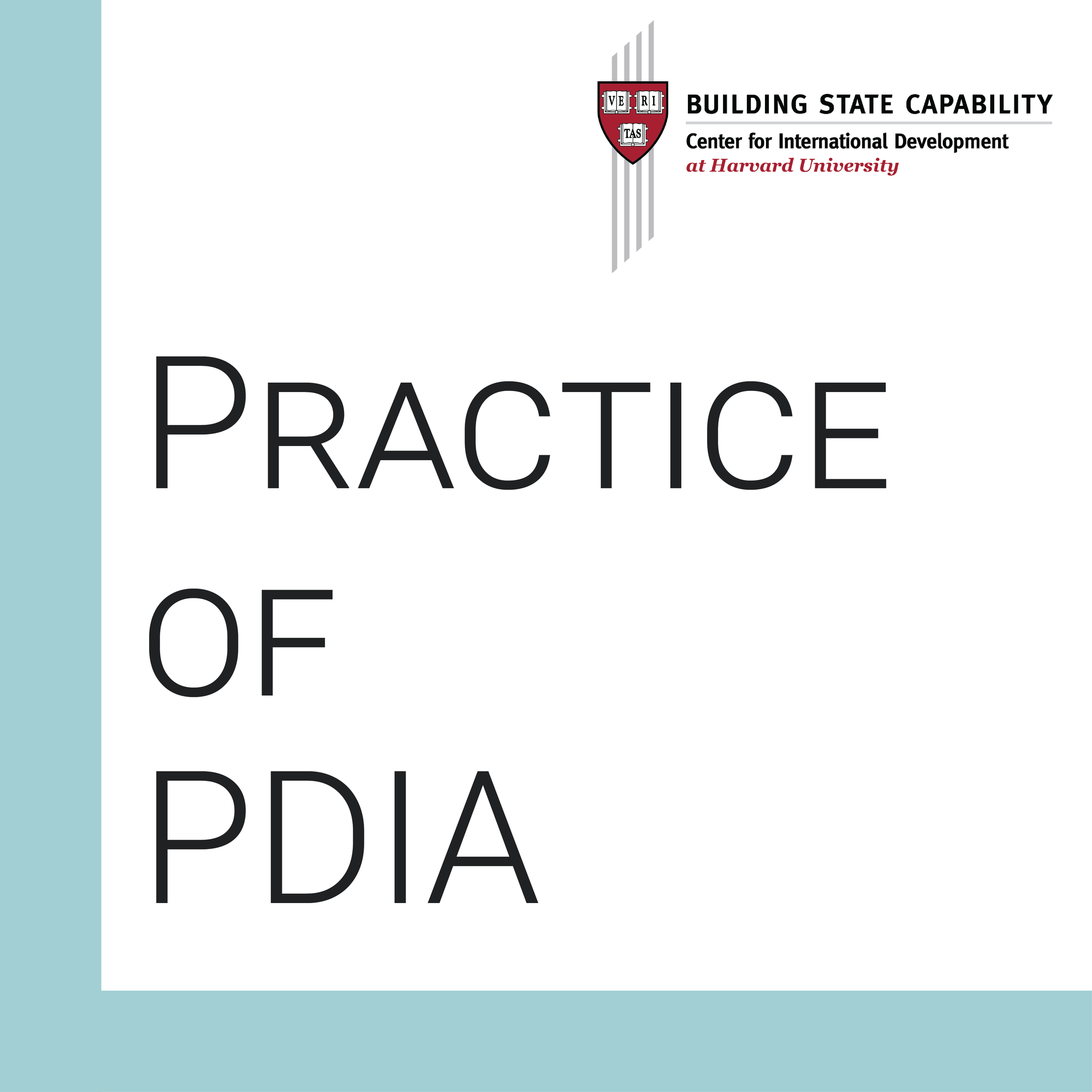PDIA in Practice cover photo