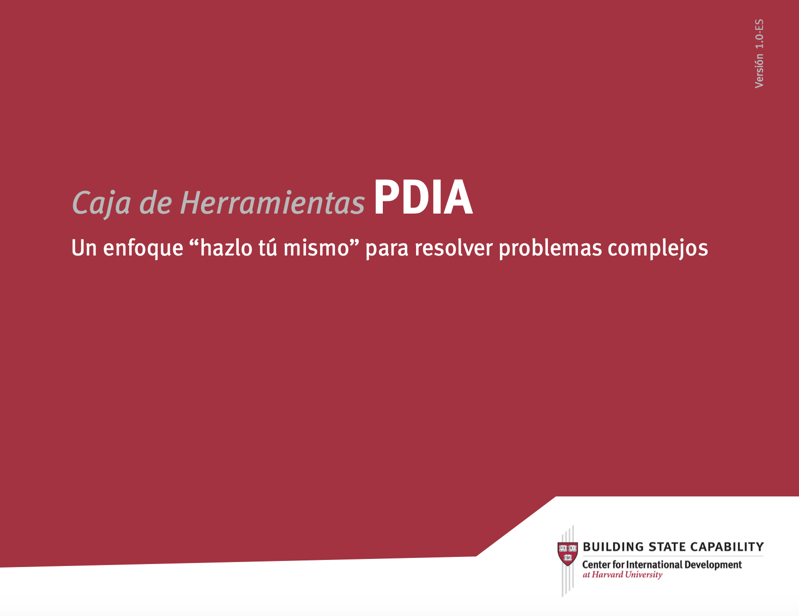 PDIA toolkit cover in Spanish