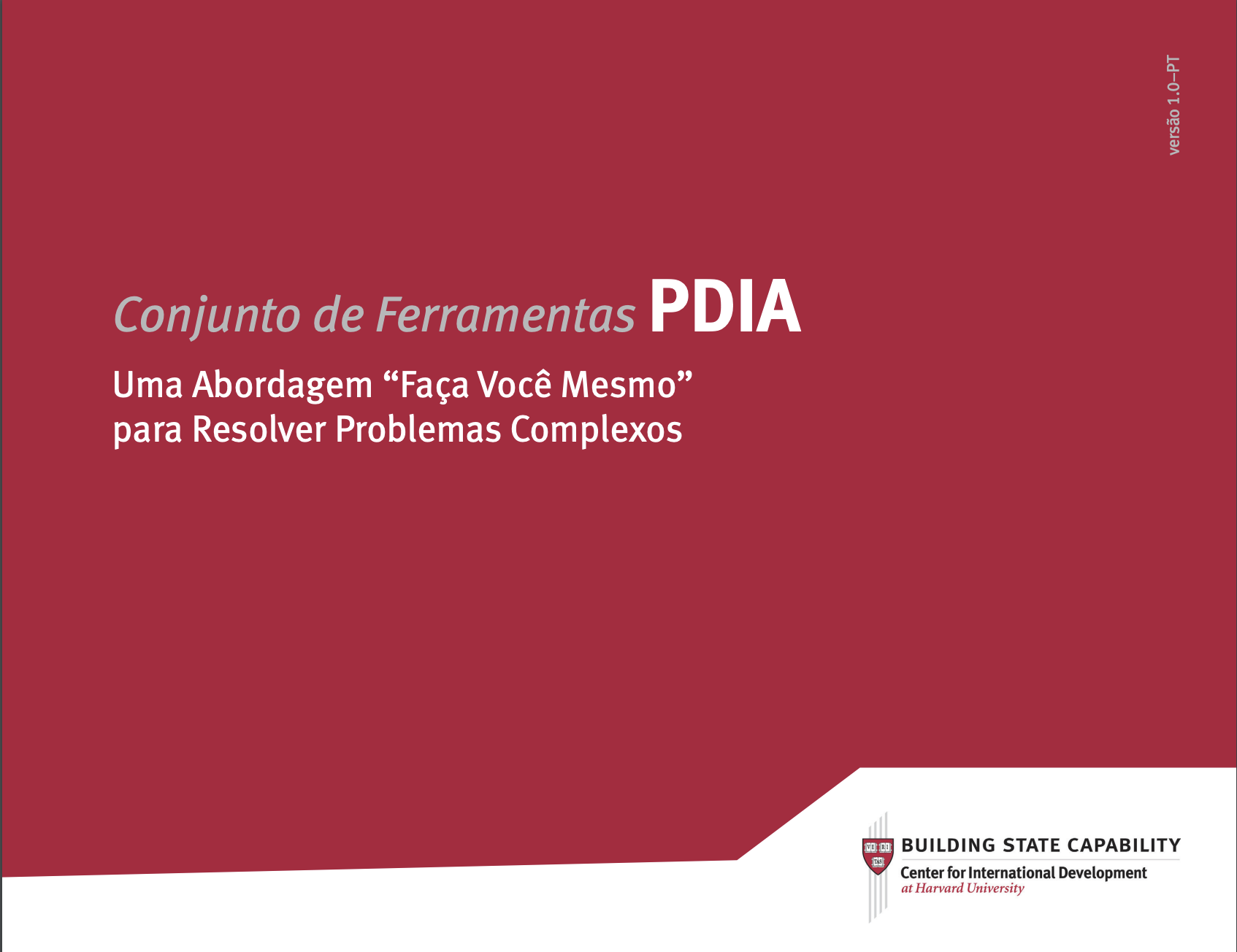 PDIA toolkit cover in Portuguese