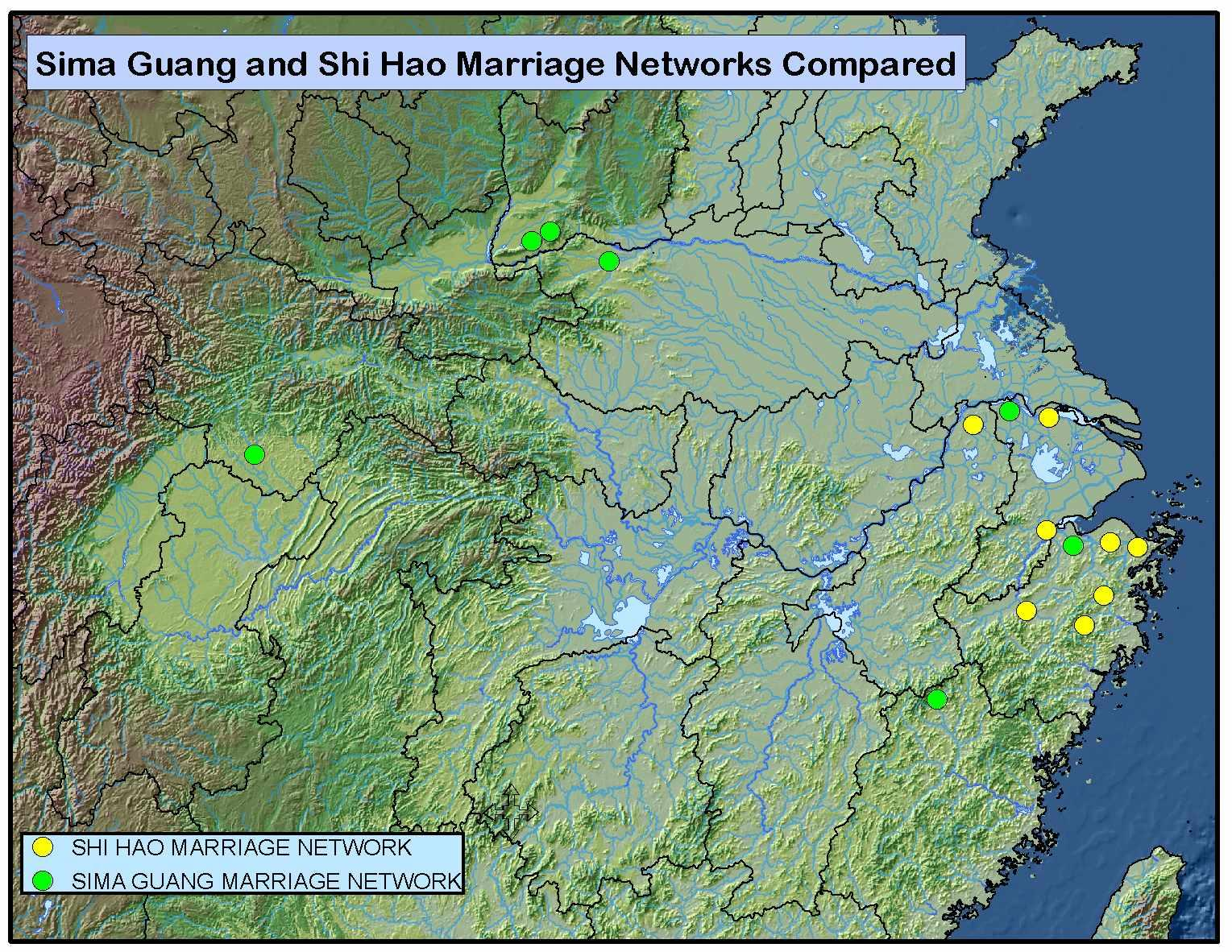 Sima Guang and Shi Hao Marriage Networks Compared