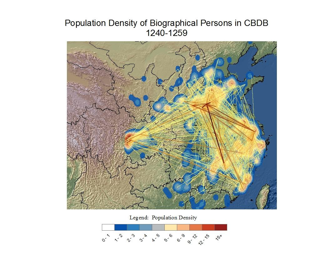 Population Density of Biographical Persons in CBDB