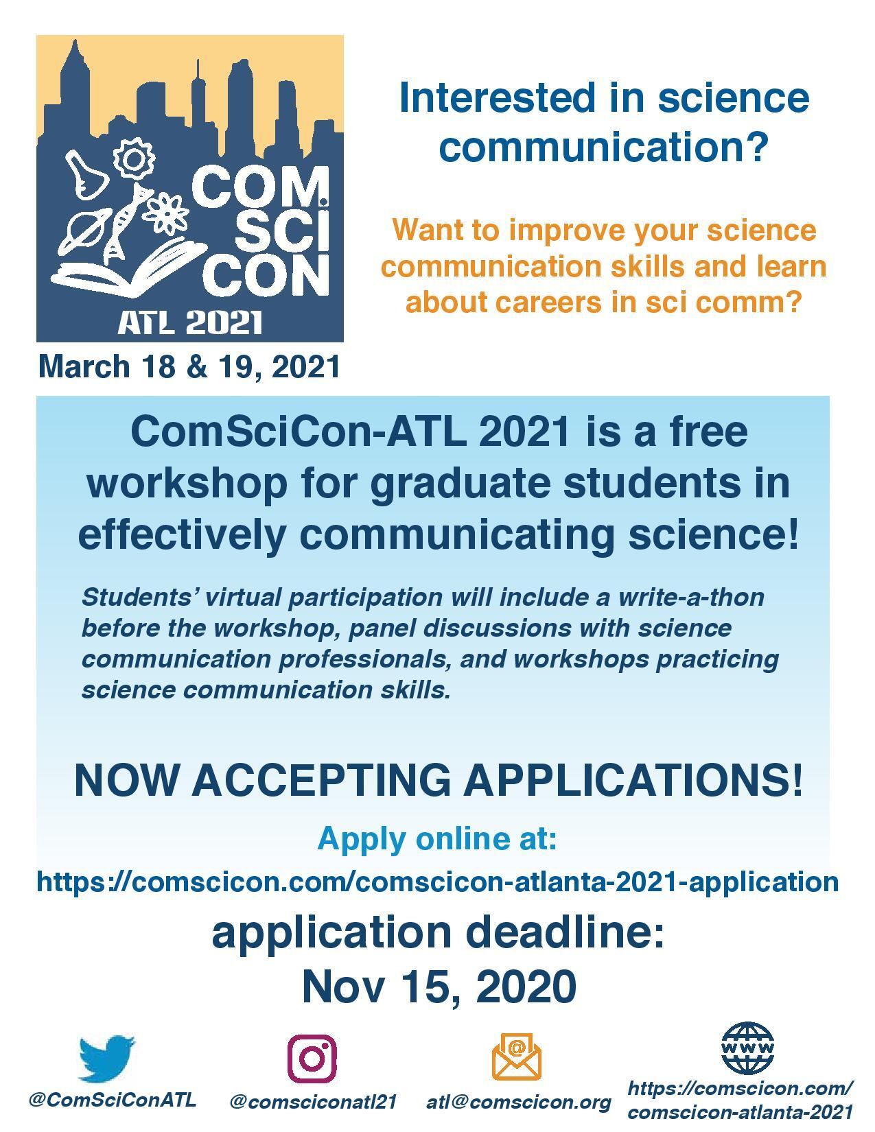 Comscicon-Atl 2021 Flyer