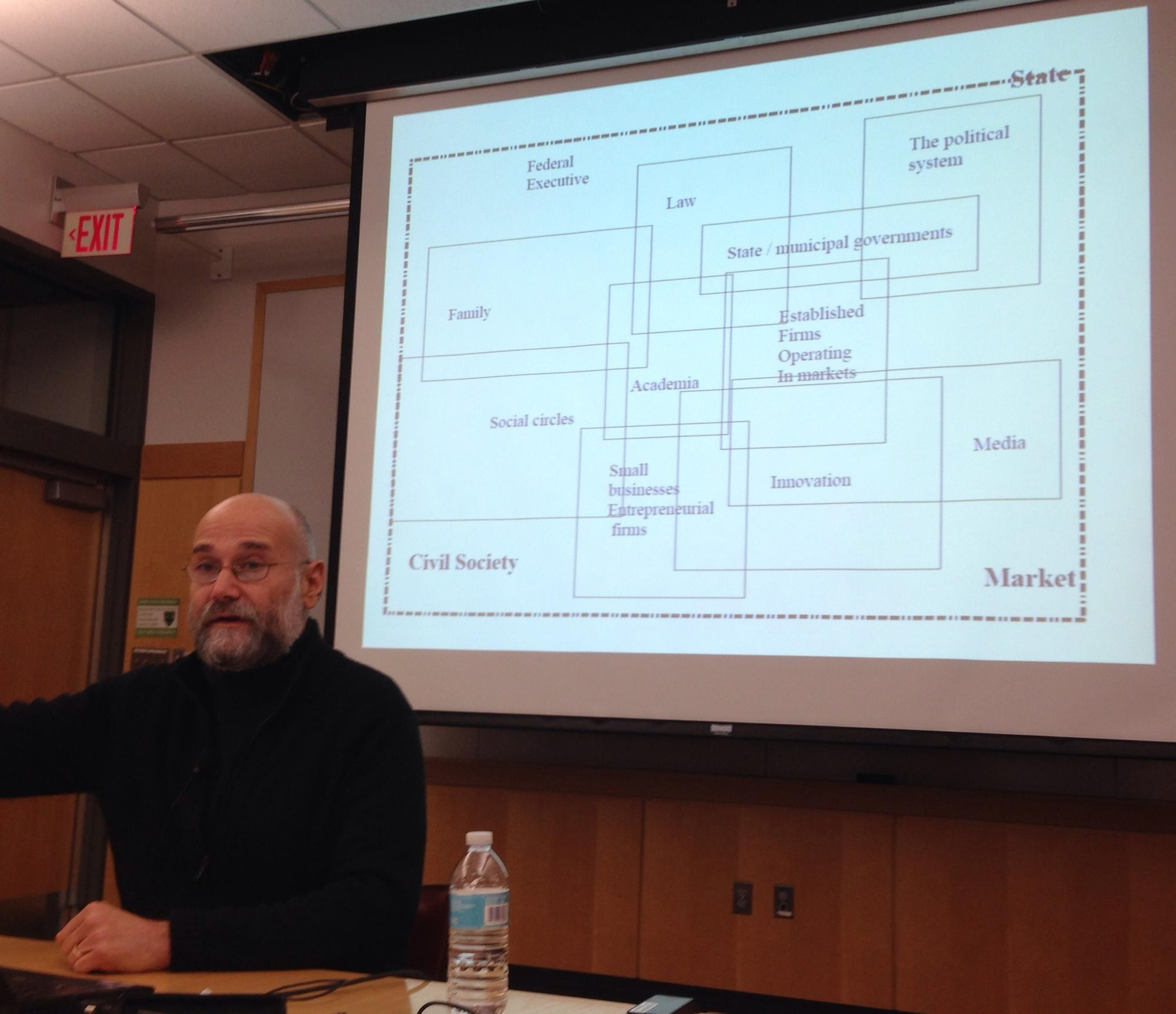 Yochai Benkler discussing the Panopticon-type effect created by NSA bulk surveillance