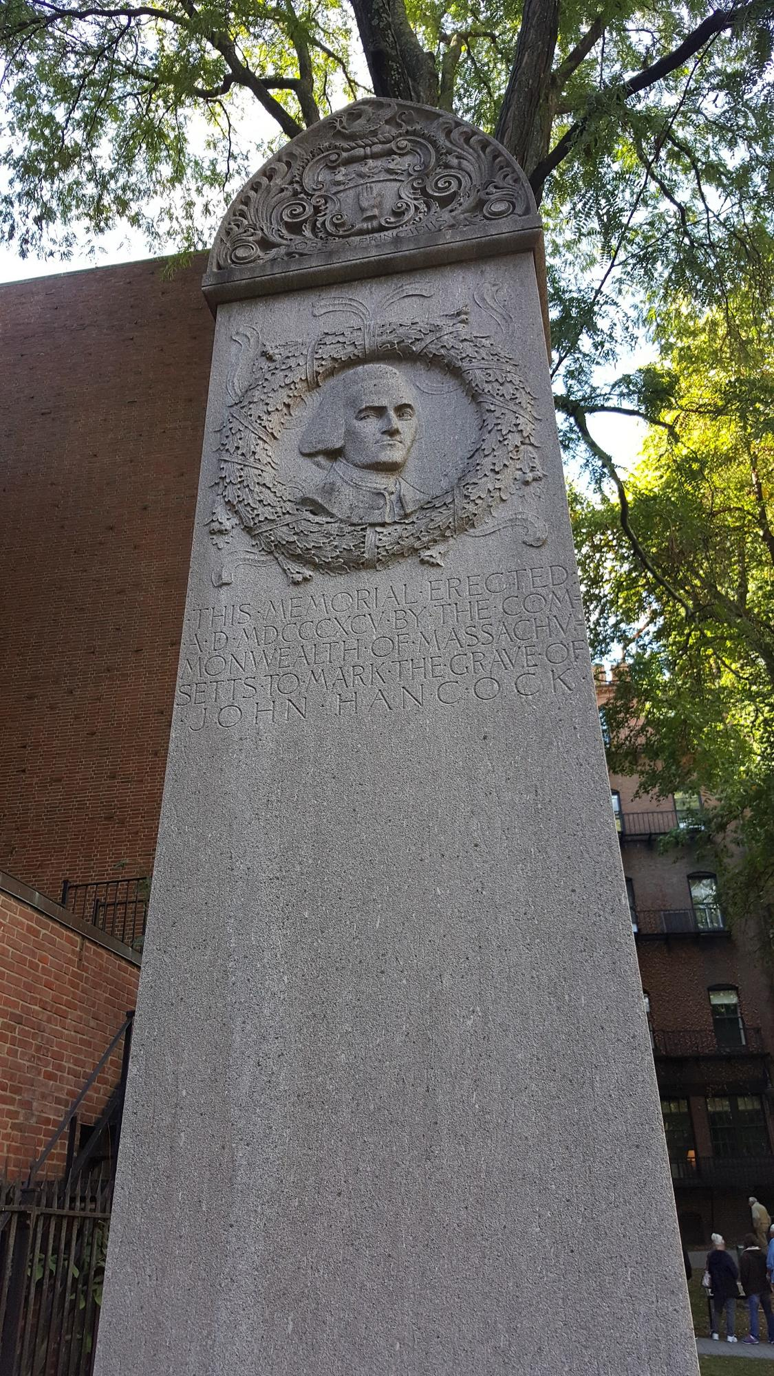 John Hancock's Grave Marker, Granary Burying Ground