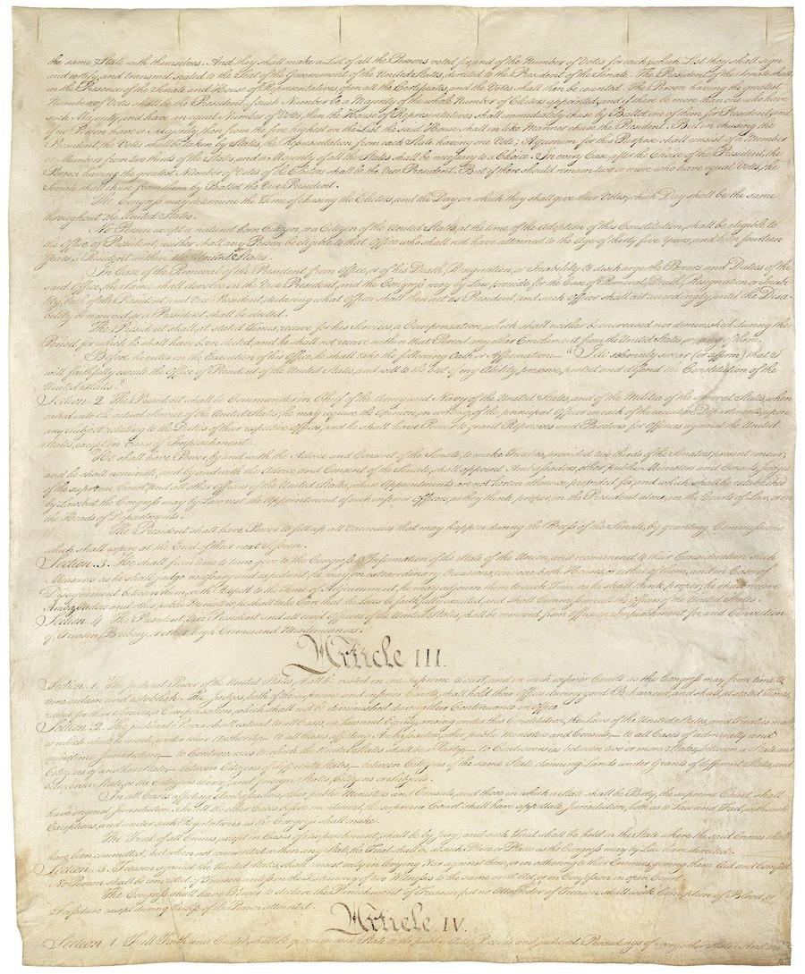 United States Constitution, Sheet 3