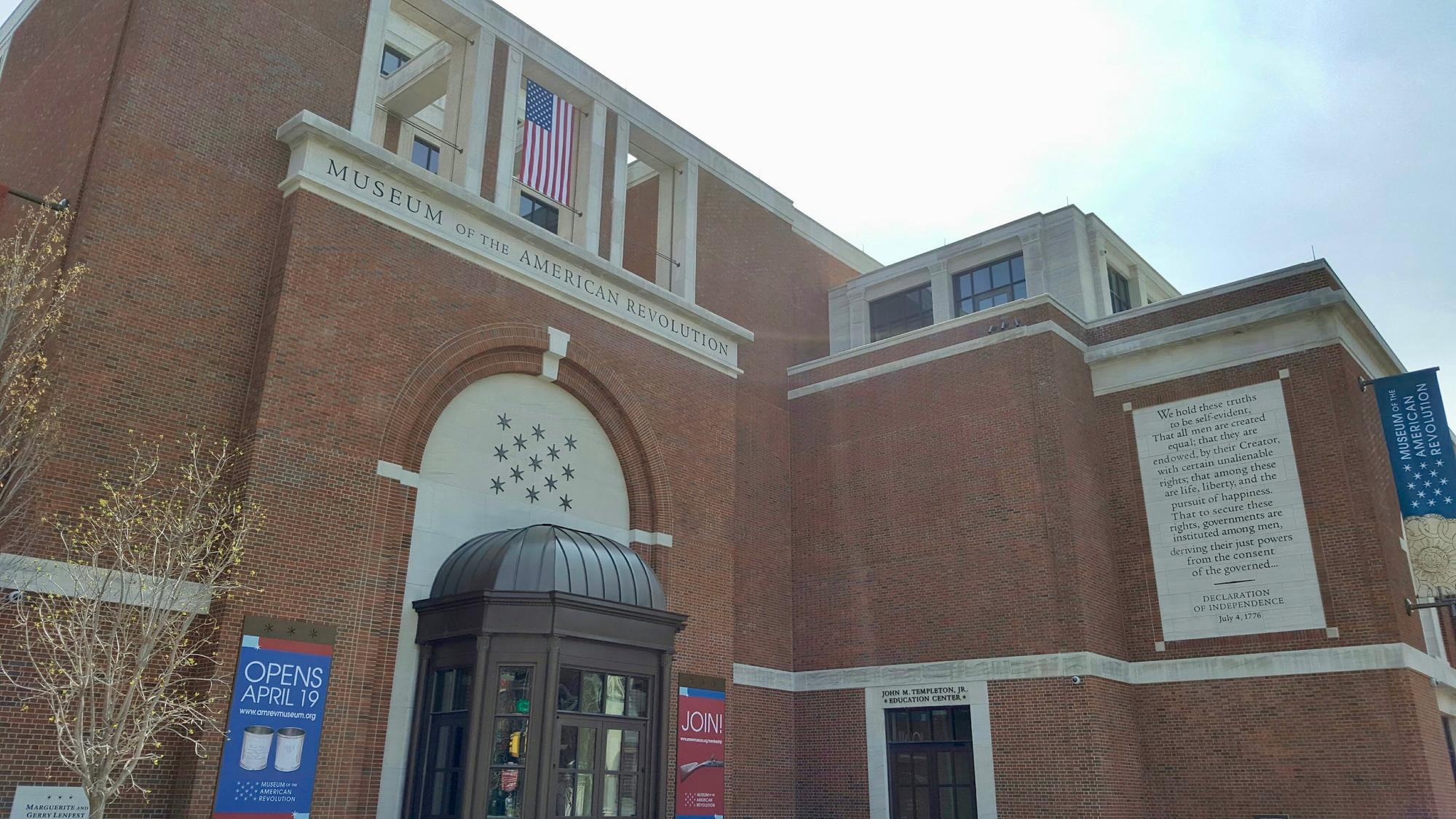 Exterior of the Museum of the American Revolution
