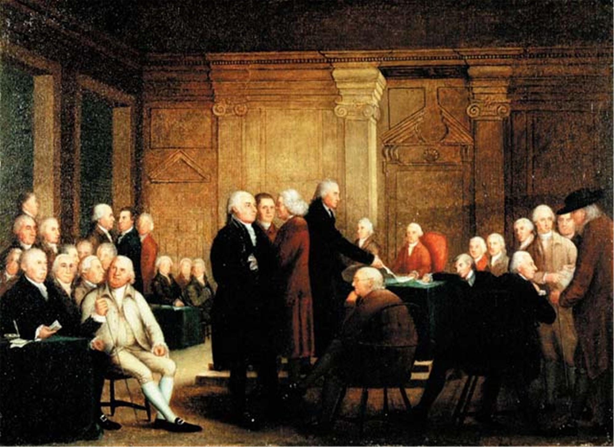Congress Voting Independence, Robert Edge Pine, ca. 1784-1788