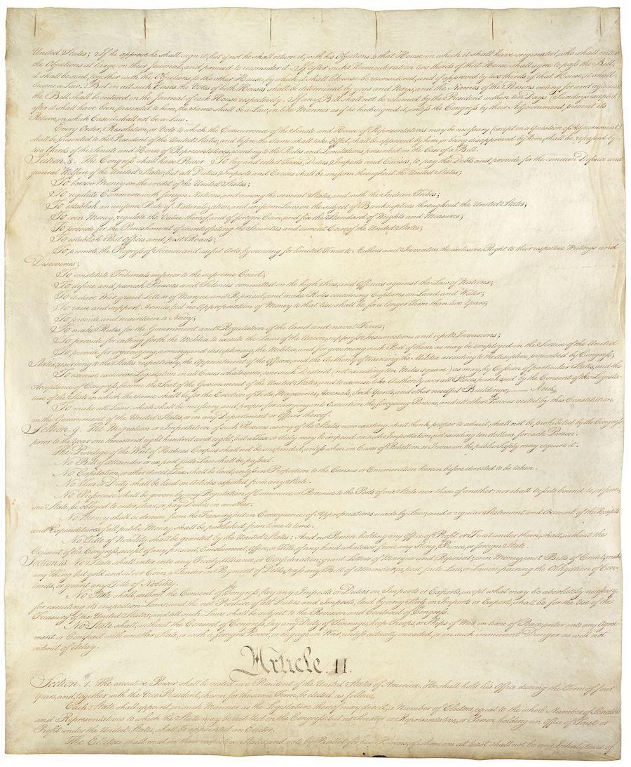 United States Constitution, Sheet 2