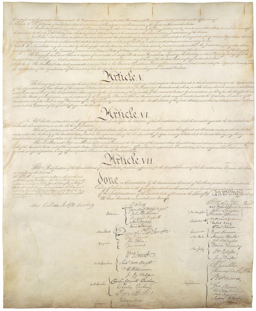 United States Constitution, Sheet 4