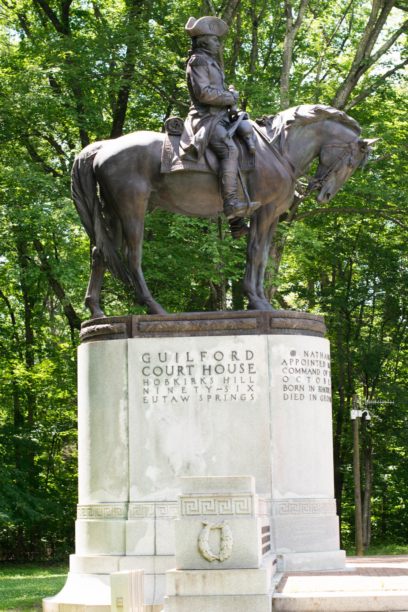 Statue of Nathanael Greene, Guilford Courthouse NMP