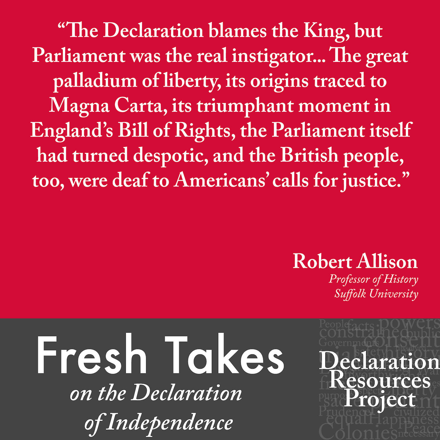 Robert Allison's Fresh Take on the Declaration of Independence