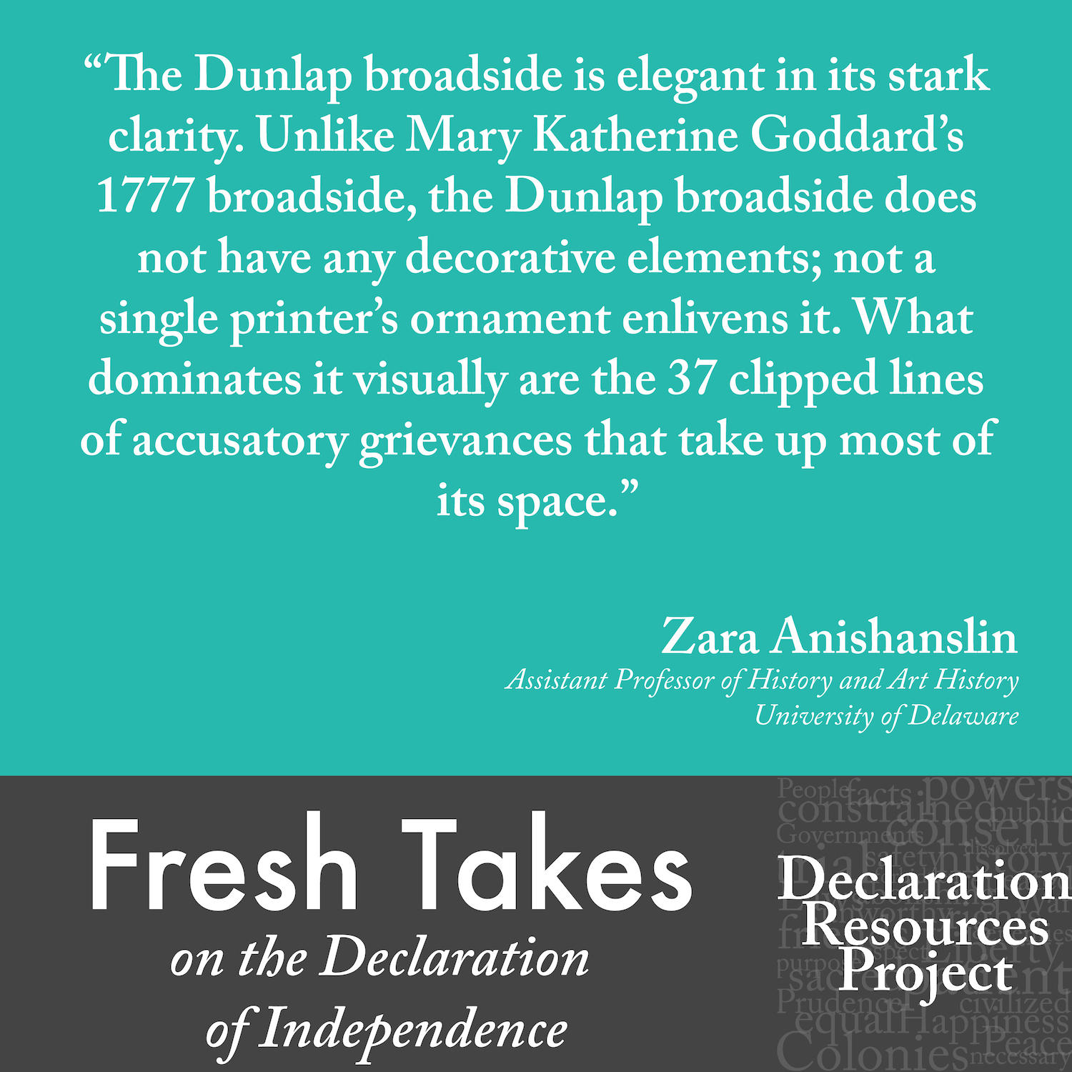Zara Anishanslin's Fresh Take on the Declaration of Independence