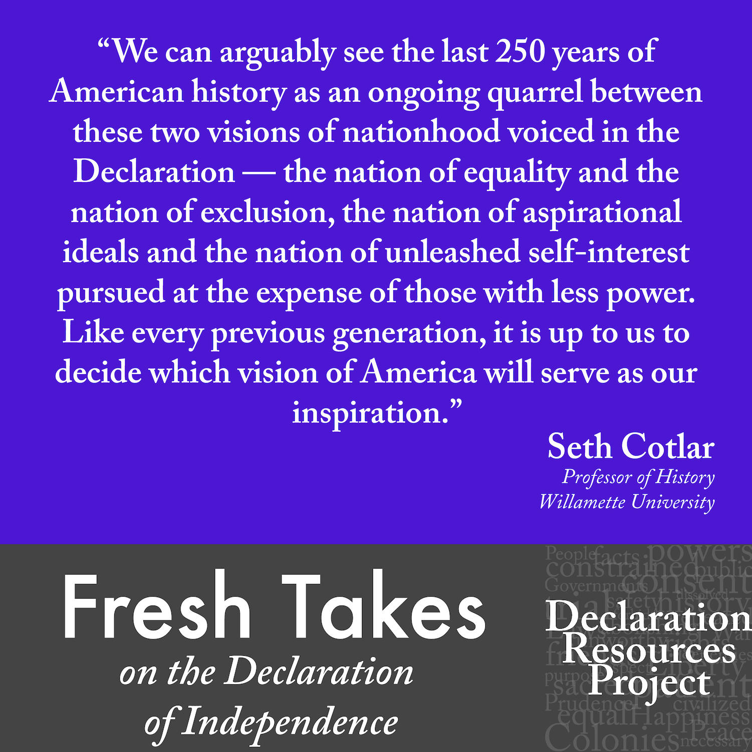 Seth Cotlar's Fresh Take on the Declaration of Independence