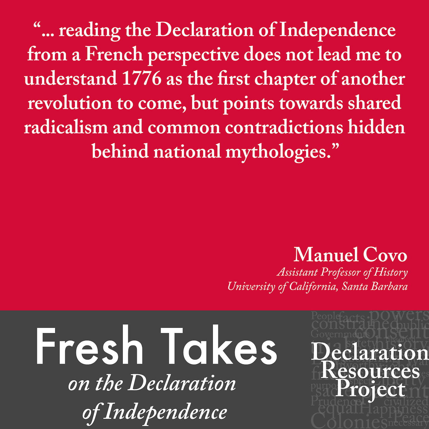 Manuel Covo's Fresh Take on the Declaration of Independence