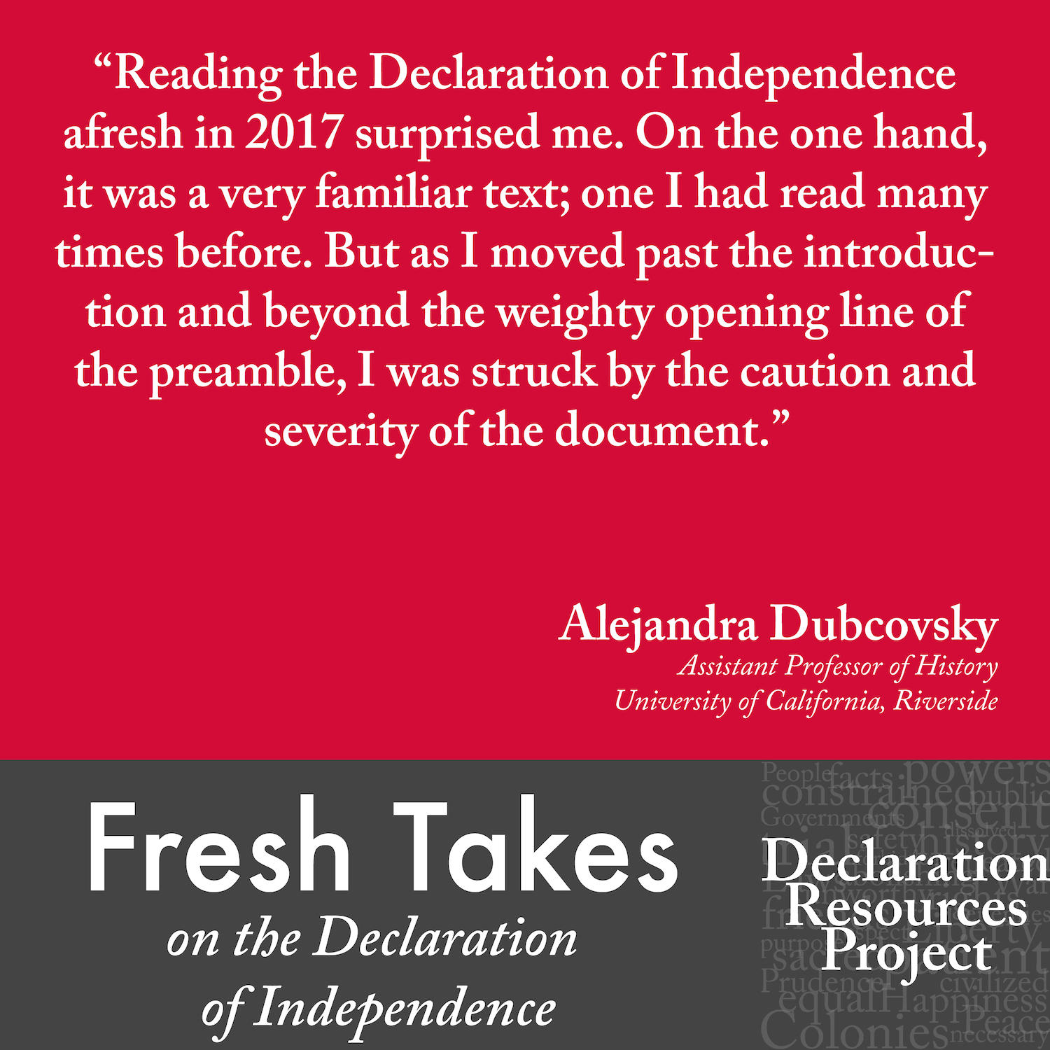 Alejandra Dubcovsky's Fresh Take on the Declaration of Independence