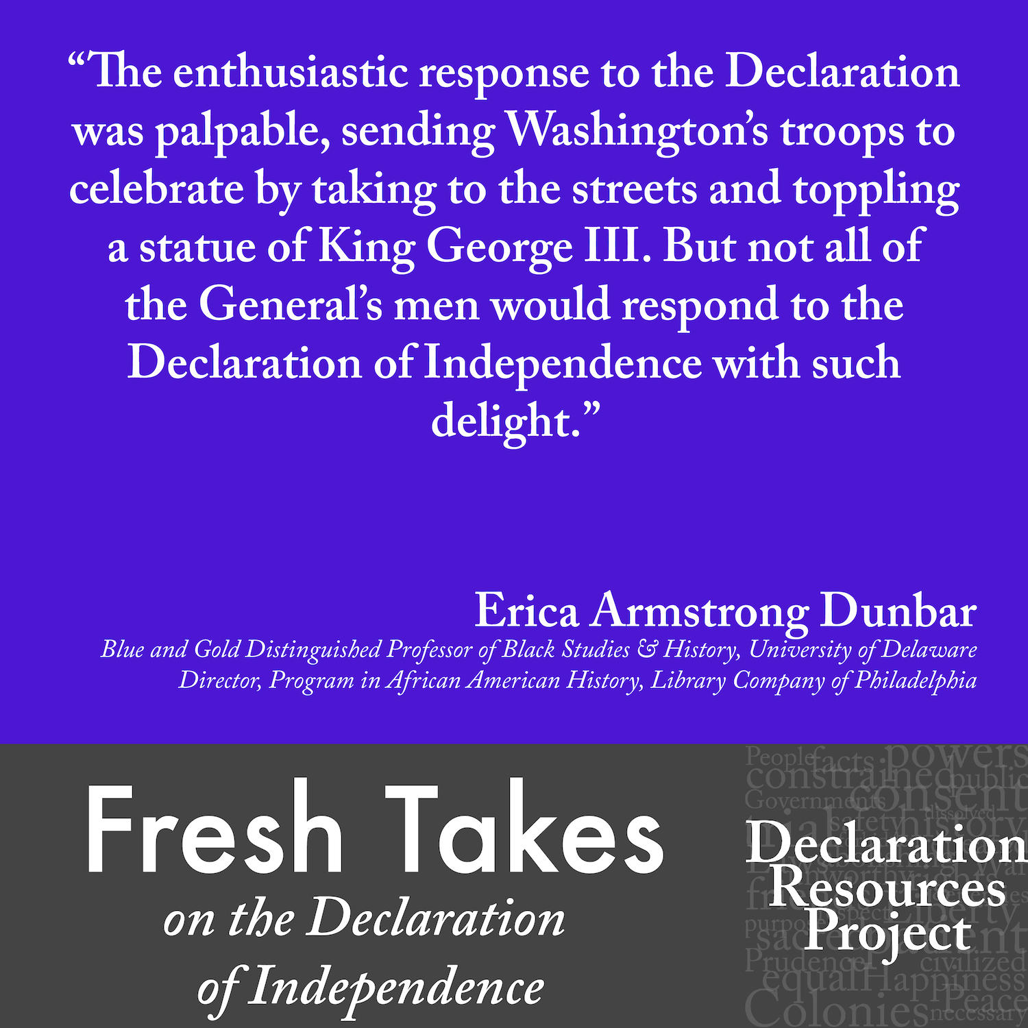 Erica Armstrong Dunbar's Fresh Take on the Declaration of Independence