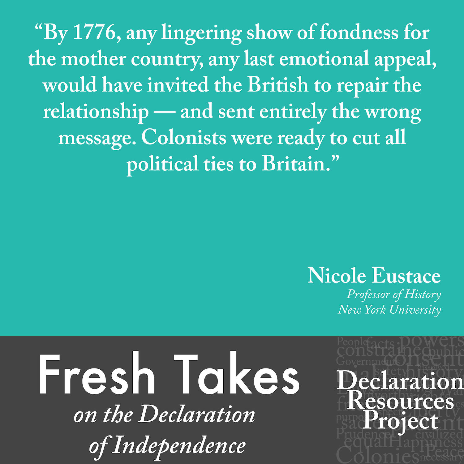 Nicole Eustace's Fresh Take on the Declaration of Independence