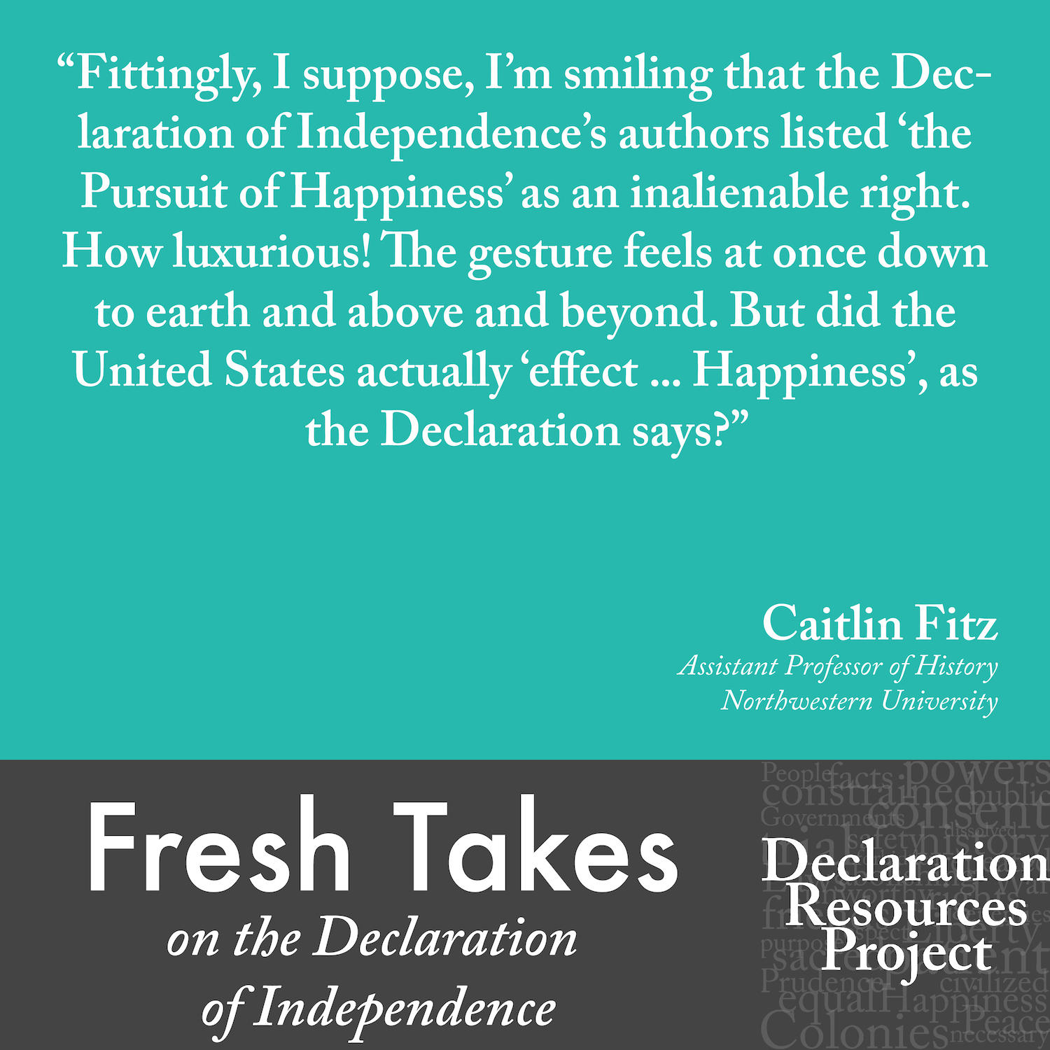 Caitlin Fitz's Fresh Take on the Declaration of Independence