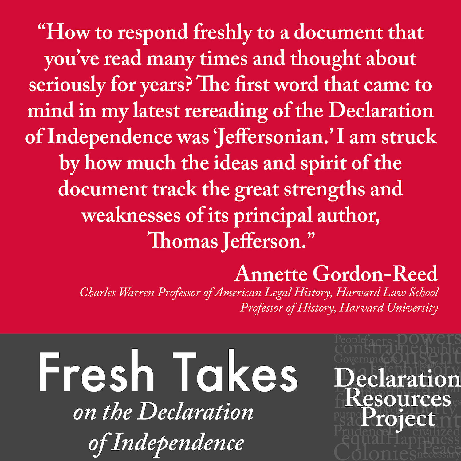 Annette Gordon-Reed's Fresh Take on the Declaration of Independence