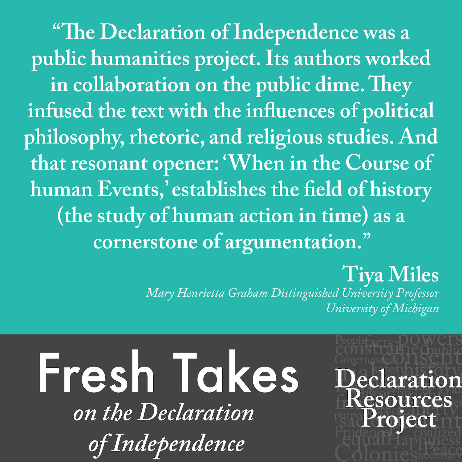 Tiya Miles' Fresh Take