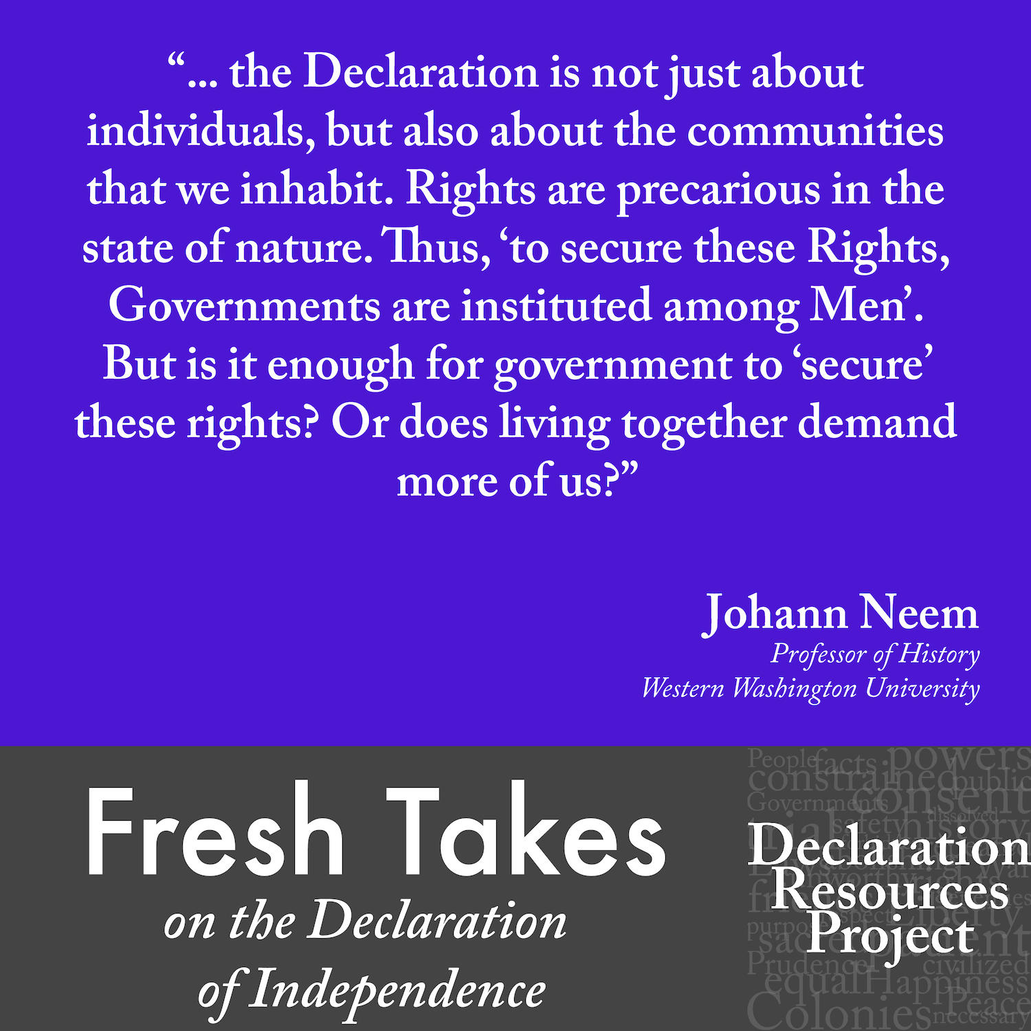Johann Neem's Fresh Take on the Declaration of Independence