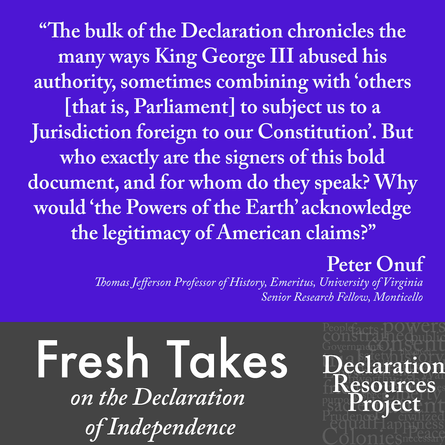 Peter Onuf's Fresh Take on the Declaration of Independence