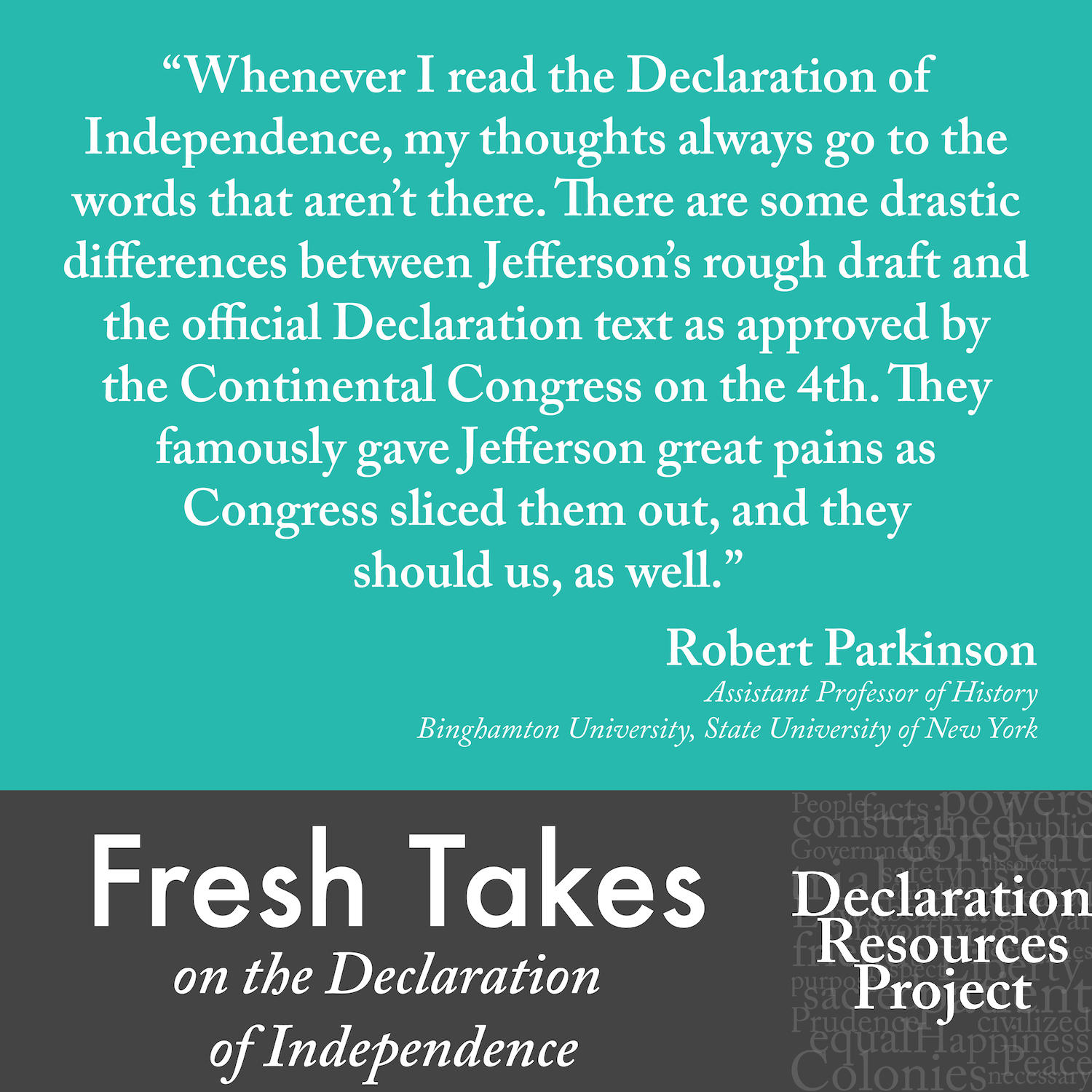 Robert Parkinson's Fresh Take on the Declaration of Independence