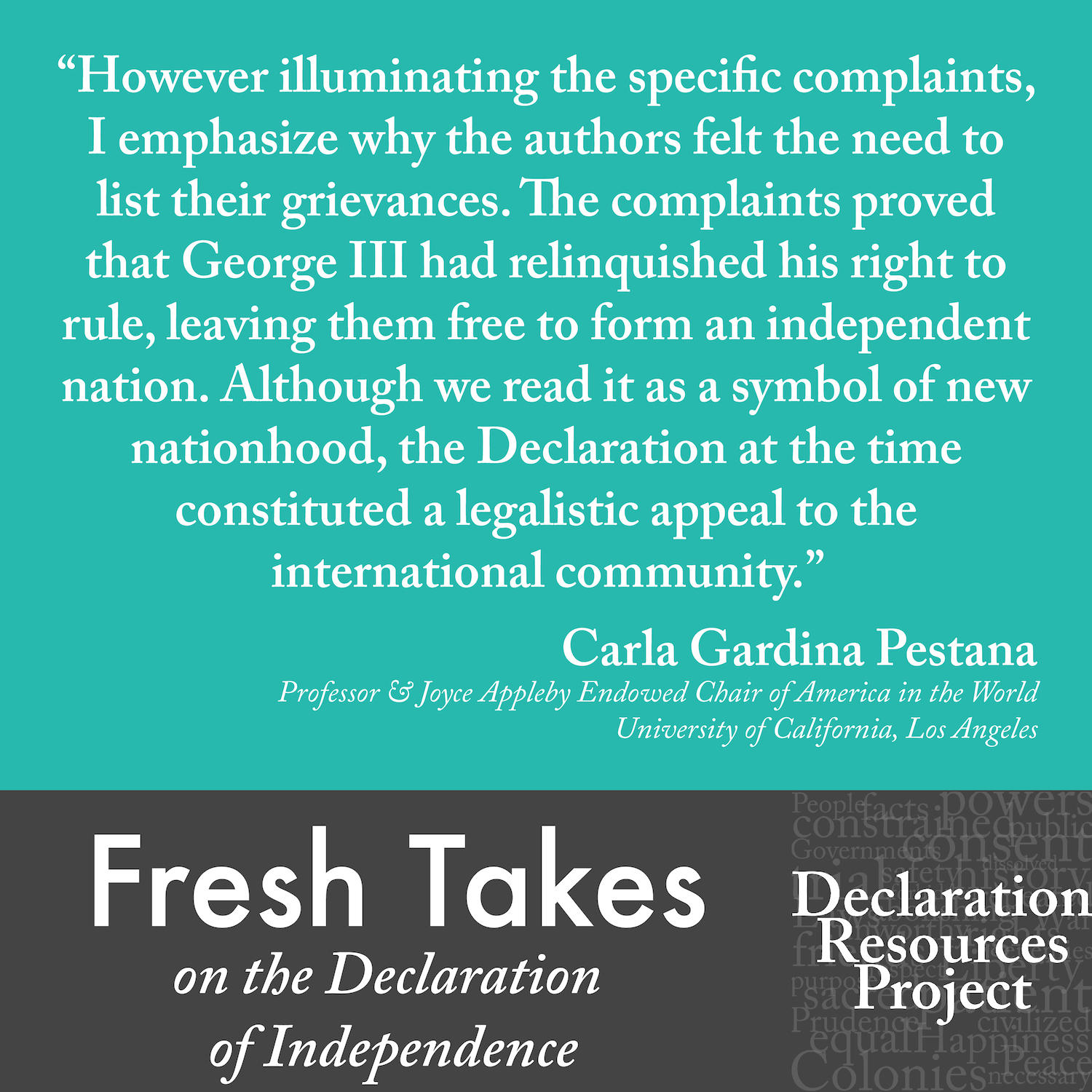 Carla Gardina Pestana's Fresh Take on the Declaration of Independence