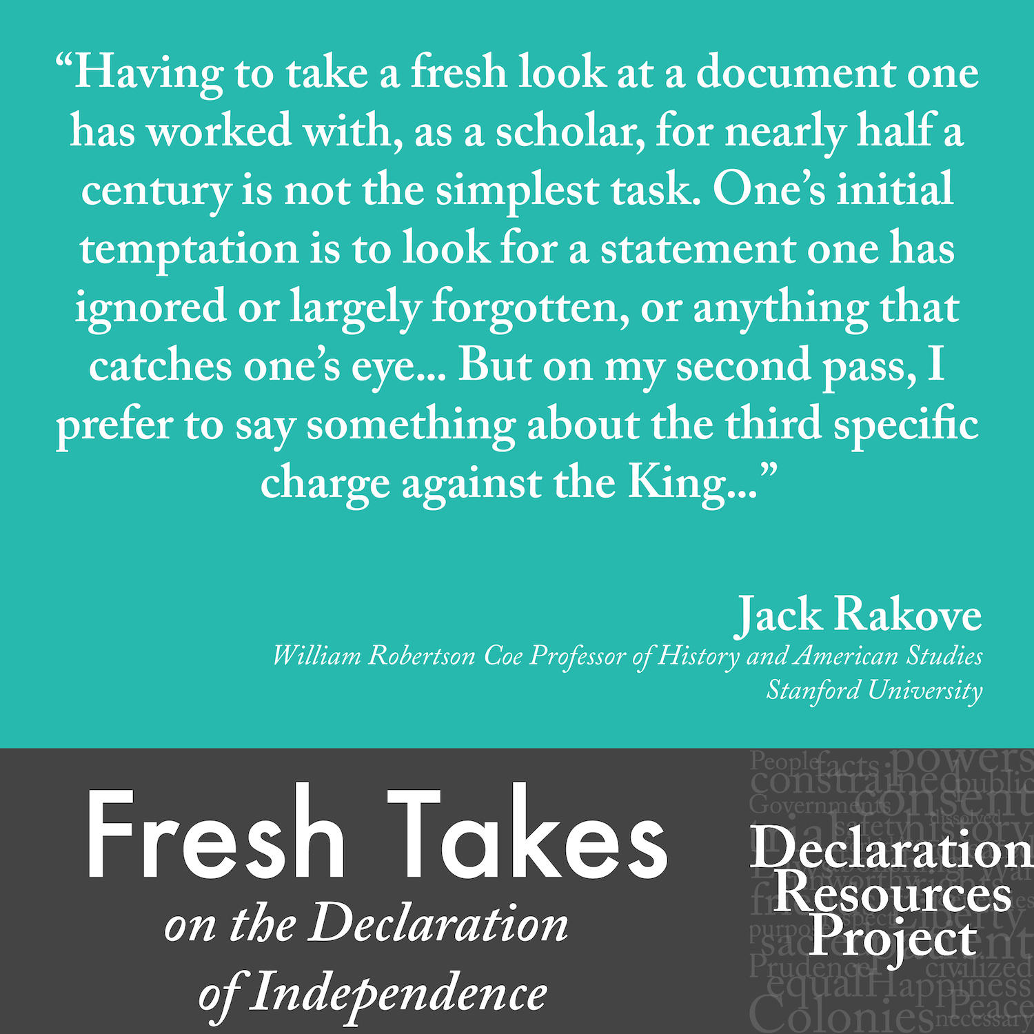 Jack Rakove's Fresh Take on the Declaration of Independence