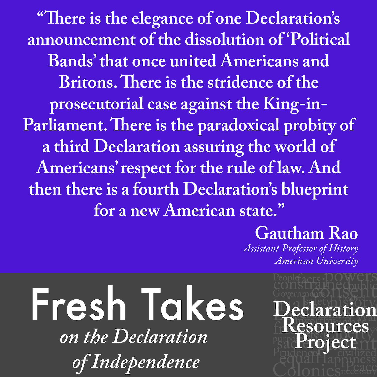 Gautham Rao's Fresh Take on the Declaration of Independence