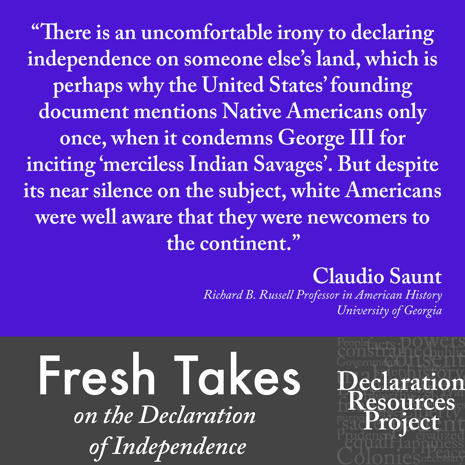 Claudio Saunt's Fresh Take on the Declaration of Independence