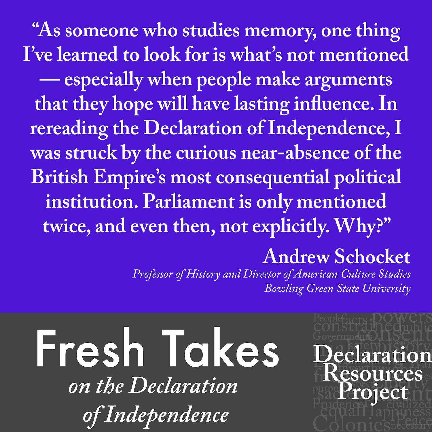 Andrew Schocket's Fresh Take on the Declaration of Independence