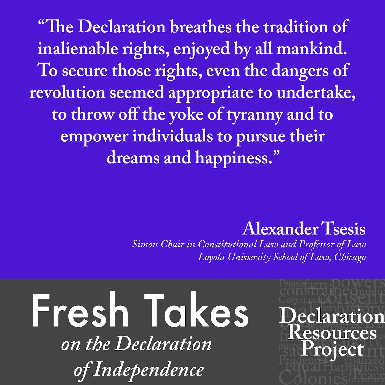 Alexander Tsesis's Fresh Take on the Declaration of Independence