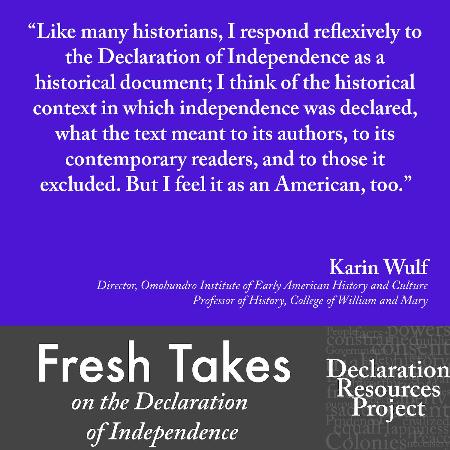 Karin Wulf's Fresh Take on the Declaration of Independence