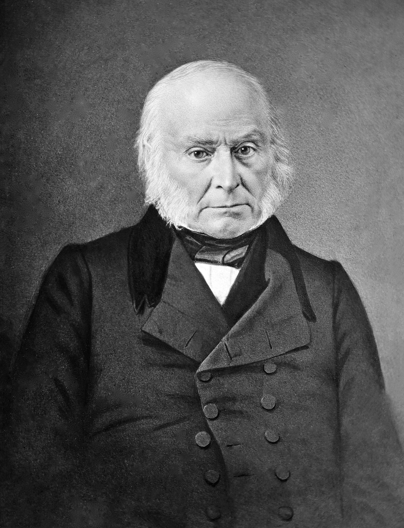 Copy of Portrait Daguerrotype of John Quincy Adams, original ca. 1843-1848