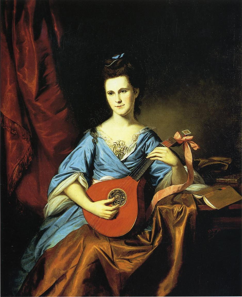 Mrs. Benjamin Rush, Portrait by Charles Willson Peale, 1776