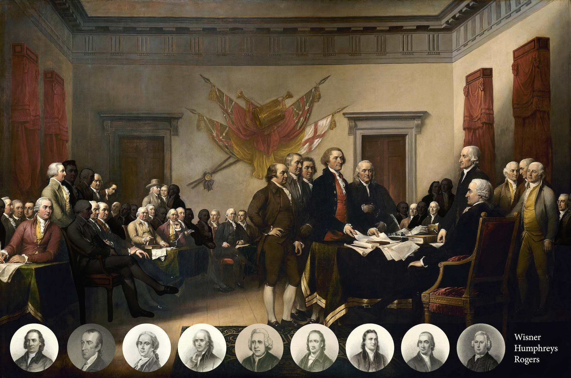 Trumbull's Declaration of Independence, Historically Accurate Version