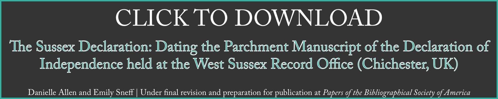 Download Sussex Declaration Paper by Allen and Sneff